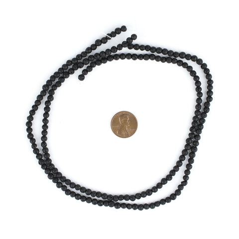 Image of Black Volcanic Lava Beads (4mm) - The Bead Chest