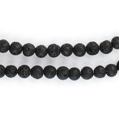 Black Volcanic Lava Beads (6mm)