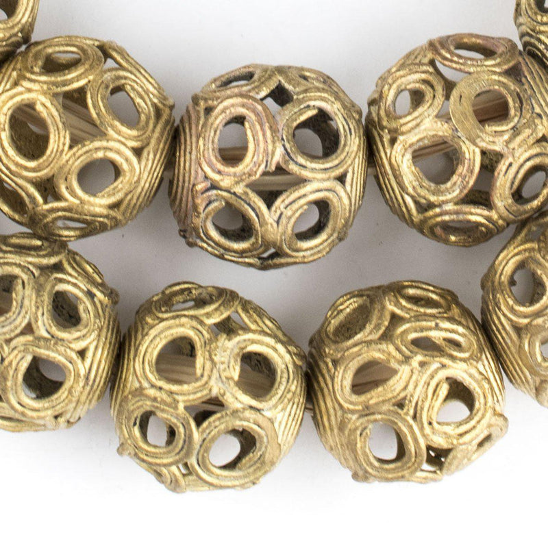 Brass Filigree Globe Beads (22mm) - The Bead Chest