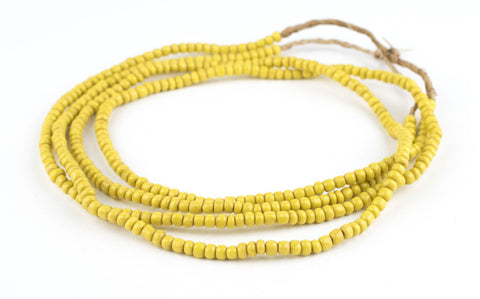Image of Sunflower Yellow Glass Beads (2 Strands) - The Bead Chest