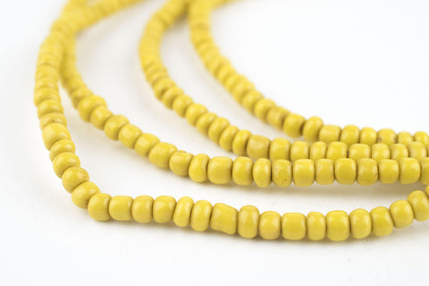 Sunflower Yellow Glass Beads (2 Strands) - The Bead Chest