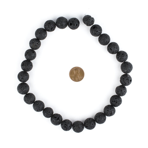 Image of Black Volcanic Lava Beads (14mm) - The Bead Chest