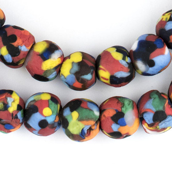Multicolor Fused Recycled Glass Beads - The Bead Chest