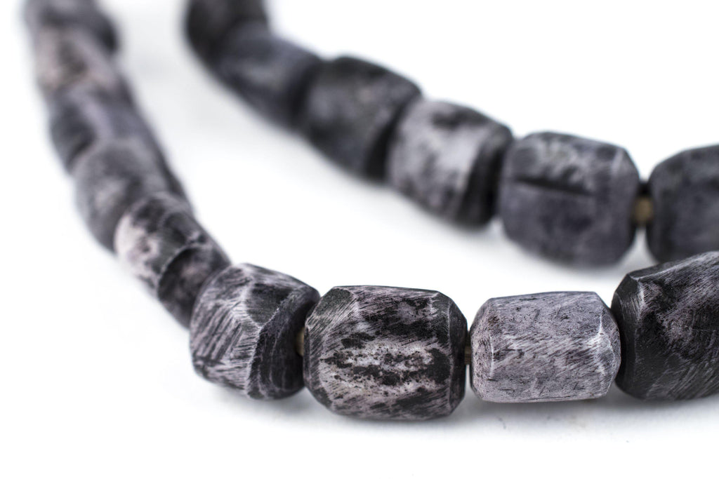 Dark Grey Kenya Bone Beads (Small) - The Bead Chest