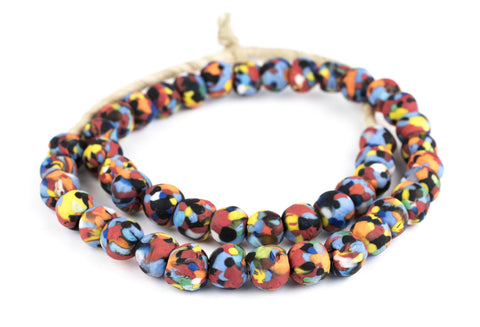 Image of Multicolor Fused Recycled Glass Beads - The Bead Chest
