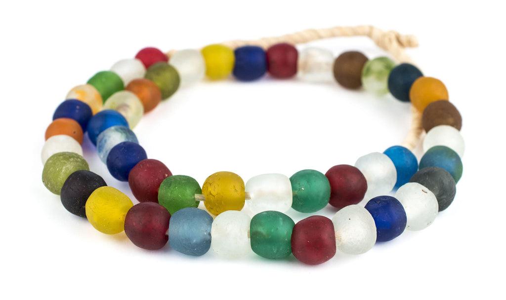 Multicolor Recycled Glass Beads (14mm) - The Bead Chest