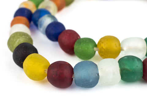 Image of Multicolor Recycled Glass Beads (14mm) - The Bead Chest
