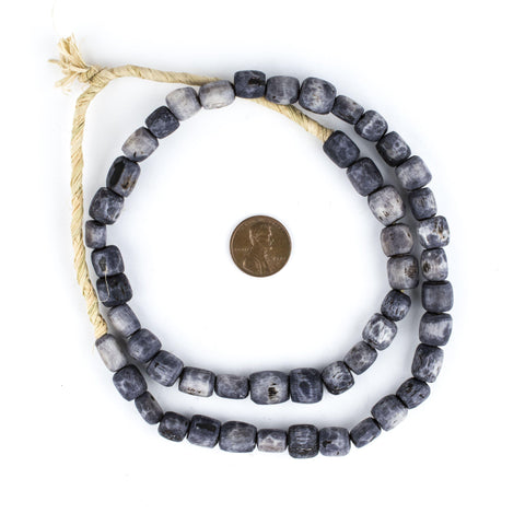 Image of Grey Kenya Bone Beads (Small) - The Bead Chest