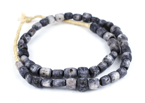 Grey Kenya Bone Beads (Small) - The Bead Chest