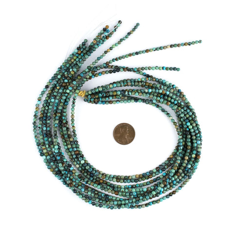Round Turquoise Beads (3mm) - The Bead Chest