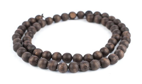 Vintage-Style Round Olive Wood Beads from Bethlehem (10mm) - The Bead Chest