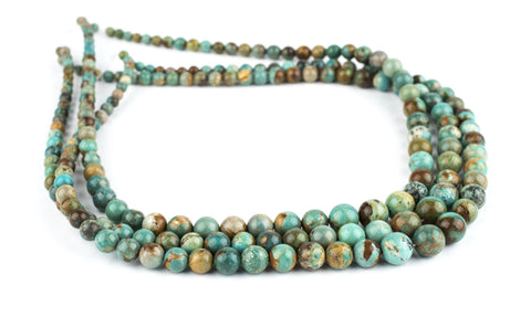 Graduated Round Turquoise Beads (4-9mm) - The Bead Chest
