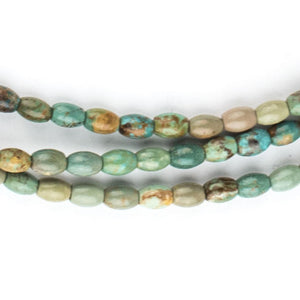 Green Turquoise Rice Beads (6x4mm) - The Bead Chest