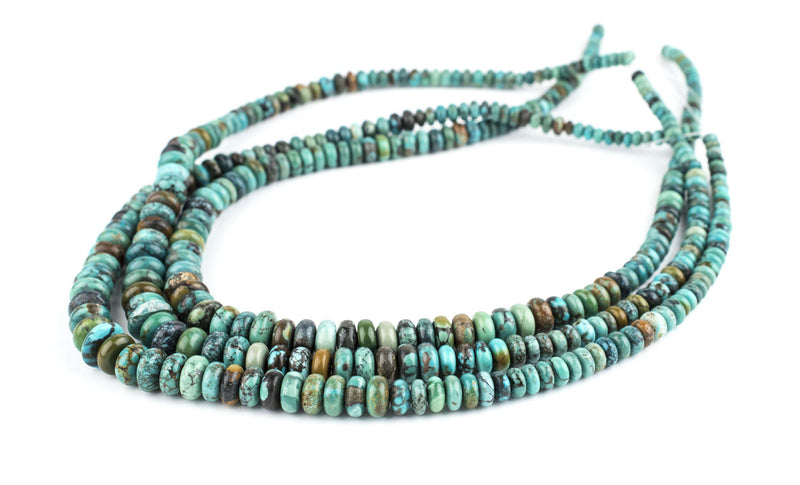 Graduated Rondelle Turquoise Beads (4-10mm) - The Bead Chest