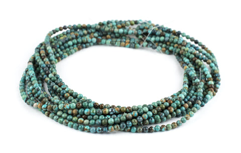 Round Turquoise Beads (4mm) - The Bead Chest