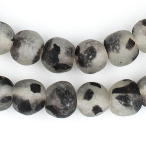 Speckled Black Recycled Glass Beads (14mm) - The Bead Chest
