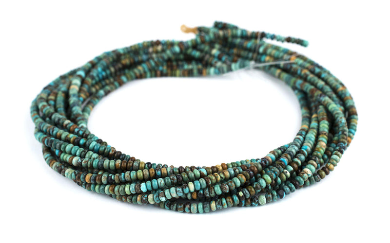 Rondelle Turquoise Beads (4mm) - The Bead Chest