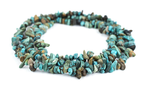 "Earthy Turquoise Chip Beads (36"" Strand) - The Bead Chest"