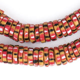 Autumn Medley Chevron Style Aja Krobo Beads (15mm)