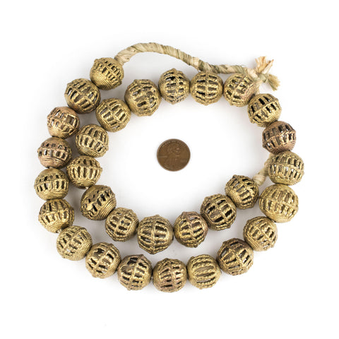 Image of Caged Basket Brass Filigree Beads (19x21mm) - The Bead Chest