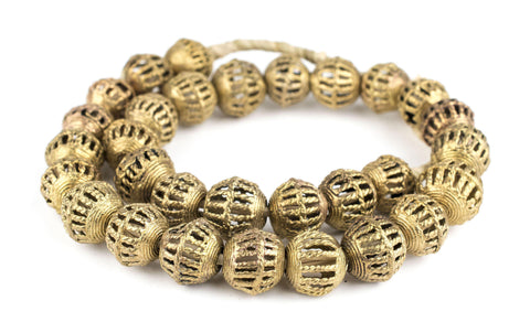 Caged Basket Brass Filigree Beads (19x21mm) - The Bead Chest