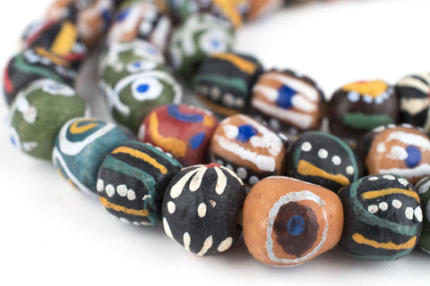 Image of Sunyani Mixed Krobo Beads (Long Strand) - The Bead Chest