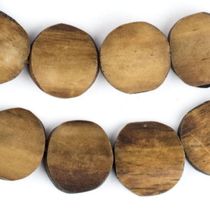 Brown Kenya Bone Beads (Circular) - The Bead Chest