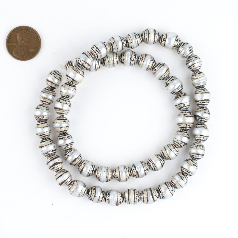Pearl Nepali Silver Capped Beads - The Bead Chest
