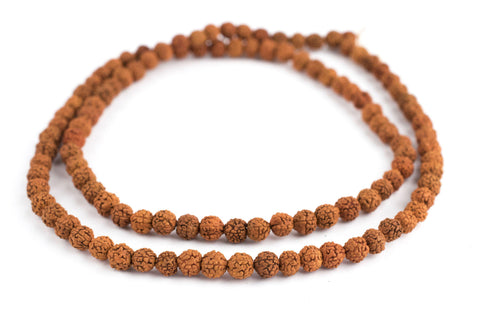 Image of Baby Rudraksha Natural Seed Prayer Beads (6mm) - The Bead Chest