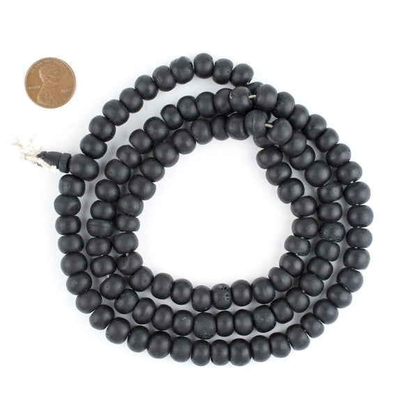 Black Bone Mala Beads (10mm)