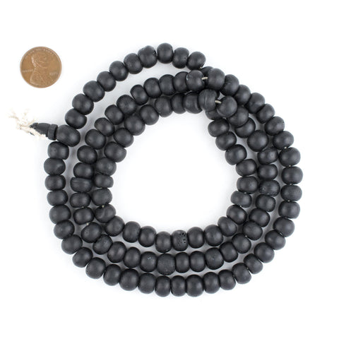 Black Bone Mala Beads (10mm) - The Bead Chest