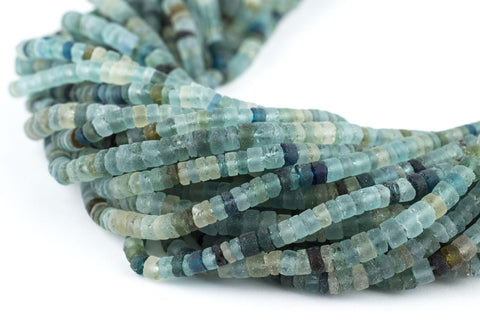 Ancient Roman Glass Cylinder Heishi Beads (4mm) - The Bead Chest