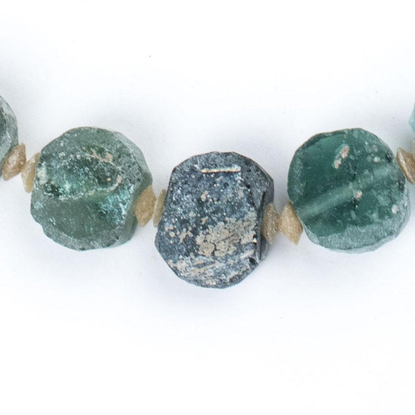 Circular Ancient Roman Glass Beads (11-18mm) - The Bead Chest