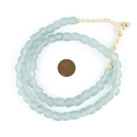 Image of Blue Aqua Recycled Glass Beads (9mm) - The Bead Chest