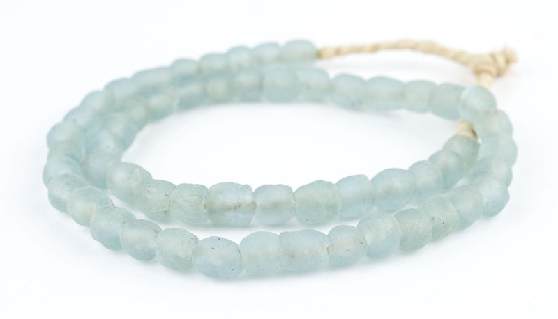 Blue Aqua Recycled Glass Beads (9mm) - The Bead Chest
