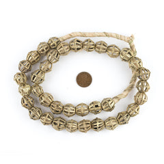 Caged Bicone Brass Filigree Beads (15mm)