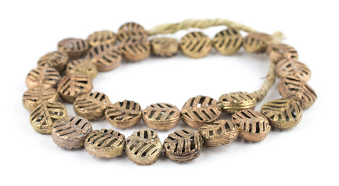 Circular Leaf Brass Filigree Beads (18mm) - The Bead Chest