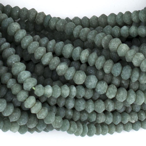 Dark Green Nephrite Jade Saucer Beads (6mm) - The Bead Chest