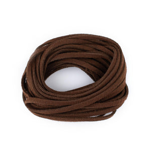 3mm Flat Dark Brown Faux Suede Cord (15ft)