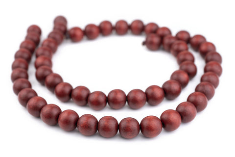 Cherry Red Natural Wood Beads (16mm) - The Bead Chest