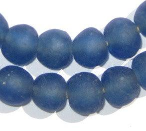 Blue Recycled Glass Beads (14mm) - The Bead Chest
