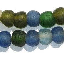 Mixed Recycled Glass Beads (14mm) - The Bead Chest