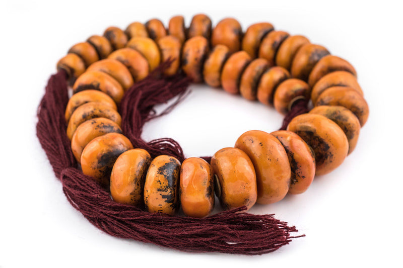 Tangerine Moroccan Resin Beads (Extra Large) - The Bead Chest