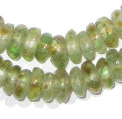 Earth Swirl Rondelle Recycled Glass Beads - The Bead Chest