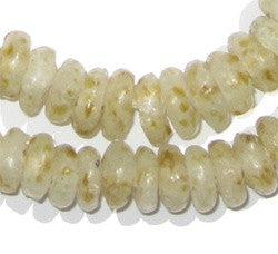 Beeswax Color Rondelle Recycled Glass Beads - The Bead Chest