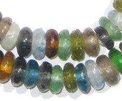 Mixed Rondelle Recycled Glass Beads - The Bead Chest
