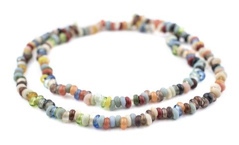 Baby Rondelle Mulitcolor Java Glass Beads - The Bead Chest