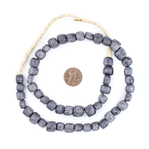 Solid Grey Kenya Bone Beads (Small)