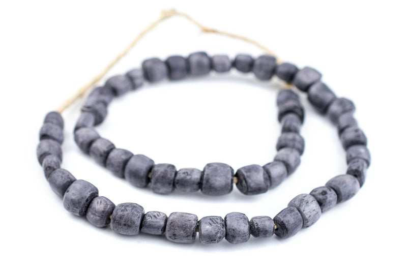 Solid Grey Kenya Bone Beads (Small) - The Bead Chest