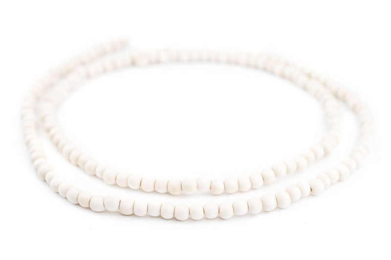 Navajo White Natural Wood Beads (6mm) - The Bead Chest